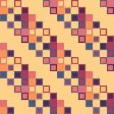 Безшовная геометрическая красная желтая голубая картина прямоугольника Стоковые Фото