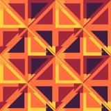 Безшовная геометрическая красная желтая голубая предпосылка картины цвета Стоковые Фотографии RF