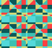 Безшовная геометрическая красная желтая голубая предпосылка картины цвета Стоковые Фото