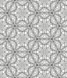 Безшовная геометрическая линия картина в аравийском стиле, этнический орнамент Стоковое Изображение