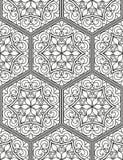 Безшовная геометрическая линия картина в аравийском стиле, этнический орнамент Стоковые Изображения RF