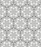 Безшовная геометрическая линия картина в аравийском стиле, этнический орнамент Стоковые Изображения