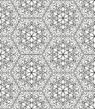 Безшовная геометрическая линия картина в аравийском стиле, этнический орнамент Стоковые Фото