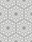 Безшовная геометрическая линия картина в аравийском стиле, этнический орнамент Стоковые Фотографии RF