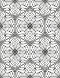 Безшовная геометрическая линия картина в аравийском стиле, этнический орнамент Стоковое фото RF