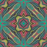 Безшовная геометрическая ЛИНИЯ картина Стоковое Изображение RF