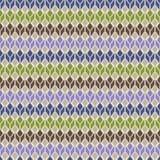 Безшовная геометрическая пестротканая родная картина Стоковое Фото
