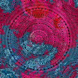 Безшовная геометрическая печать Этнические и племенные мотивы Круговое оранжевое Стоковое фото RF