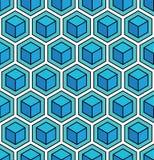 Безшовная геометрическая предпосылка куба Стоковая Фотография RF