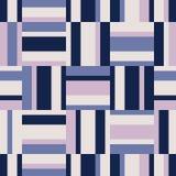 Безшовная геометрическая ретро картина с горизонтальными и вертикальными нашивками бесплатная иллюстрация