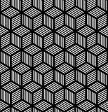 Безшовная геометрическая текстура в конструкции op искусства. Стоковые Изображения