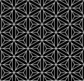 Безшовная геометрическая текстура. Шестиугольники, диаманты, треугольники и s Стоковое Изображение
