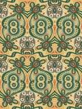 Безшовная геометрическая флористическая картина Стоковые Изображения