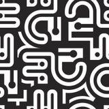 Безшовная геометрическая черно-белая картина Стоковое Изображение RF