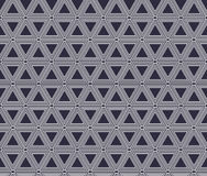 Безшовная геометрическая черно-белая предпосылка нашивок, простая картина Стоковая Фотография RF