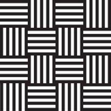 Безшовная геометрическая черно-белая предпосылка с линиями Стоковое Изображение