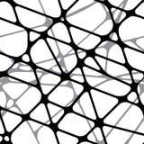 Безшовная геометрическая черно-белая предпосылка Стоковая Фотография RF