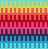Безшовная горизонтальная волнистая картина ткани нашивок Стоковые Изображения