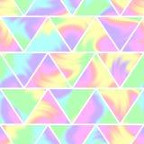 Безшовная голографическая картина Современный ультрамодный дизайн бесплатная иллюстрация