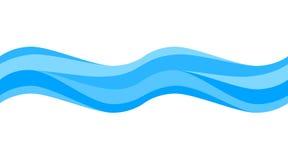 Безшовная голубая волна иллюстрация штока