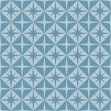 Безшовная голубая геометрическая картина Стоковые Изображения RF