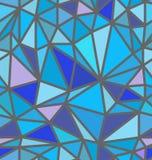 Безшовная голубая картина полигона Стоковая Фотография
