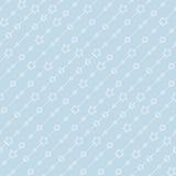 Безшовная голубая картина с звездами. Стоковое Фото