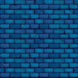 Безшовная голубая картина текстуры предпосылки кирпичной стены Стоковая Фотография RF