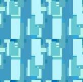 Безшовная голубая квадратная геометрическая декоративная картина Стоковые Фотографии RF