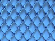 Безшовная голубая кожаная картина драпирования, иллюстрация 3d иллюстрация штока