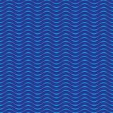 Безшовная голубая предпосылка картины волн Иллюстрация штока