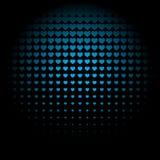 Безшовная голубая предпосылка картины зарева сердца Иллюстрация штока