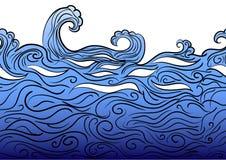 Безшовная граница воды Стоковые Фото