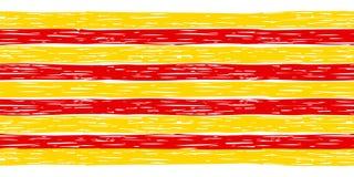 Безшовная граница с флагом Каталонии Стоковые Фото