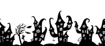Безшовная граница для партии хеллоуина Стоковые Фотографии RF