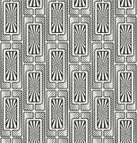 Безшовная графическая картина черная белизна Стоковые Фотографии RF