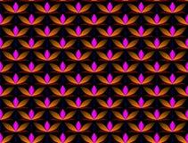 Безшовная декоративная картина с грациозно декоративными цветками в темные цвета иллюстрация штока