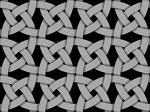 Безшовная декоративная картина пересеченного волокна Illustr вектора Стоковые Изображения RF