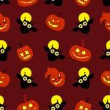 Безшовная декоративная предпосылка счастливый хеллоуин иллюстрация штока