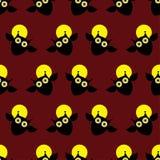 Безшовная декоративная предпосылка счастливый хеллоуин бесплатная иллюстрация
