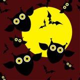 Безшовная декоративная предпосылка счастливый хеллоуин иллюстрация вектора