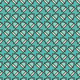 Безшовная декоративная предпосылка с абстрактными диаграммами иллюстрация штока