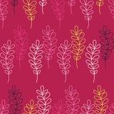 Безшовная декоративная предпосылка с ветвями и листьями иллюстрация вектора