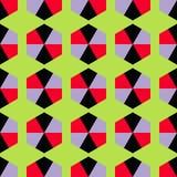 Безшовная декоративная предпосылка с геометрическими формами иллюстрация штока