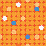 Безшовная декоративная предпосылка с кругами, кнопками и точками польки бесплатная иллюстрация