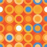 Безшовная декоративная предпосылка с кругами, кнопками и точками польки иллюстрация штока