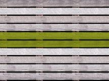 Безшовная деревянная текстура пола или мостоваой с зеленой линией, деревянным паллетом Стоковые Фото