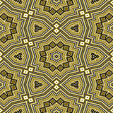 Безшовная желтая геометрическая картина Стоковая Фотография