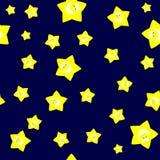 Безшовная желтая звезда шаржа Стоковая Фотография RF