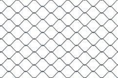 Безшовная закрепляя петлей текстура металлической загородки звена цепи на белой предпосылке представленная иллюстрация 3d иллюстрация вектора